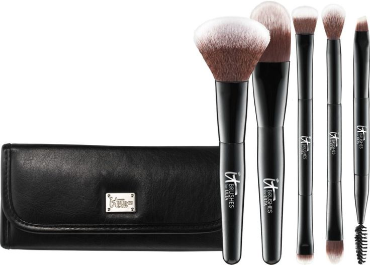 IT Brushes For ULTA Your Multi-Tasker Deluxe Dual-Ended Travel Brush Set Ulta.com - Cosmetics, Fragrance, Salon and Beauty Gifts