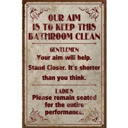 Bathroom Etiquette Signs Funny 81 best vintage signs images on pinterest | vintage signs, tin