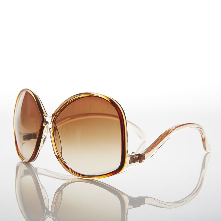 Oversized Women's Low Temple 70s Vintage Sunglasses - Vazzy
