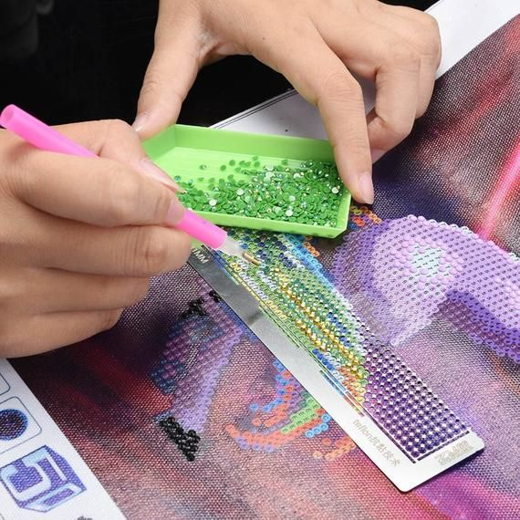 Diamond Painting Tools Drawing Ruler Square Round Drill Diamond Embroidery