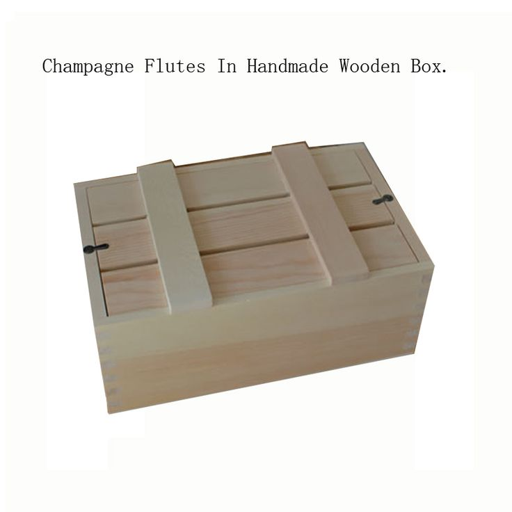 Champagne Flutes In Handmade Wooden Box YIXING3337