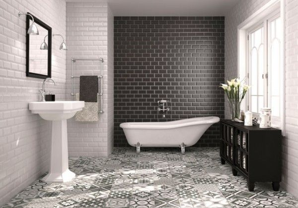 Tiled flooring is naturally water resistant, hygienic, and with the addition of underfloor heating, allows you to maximise wall space as well as hide unsightly (and sometimes hard to place) radiators. Floor and wall tiles from Aparici. aparici.com #TOTW #utopiamag