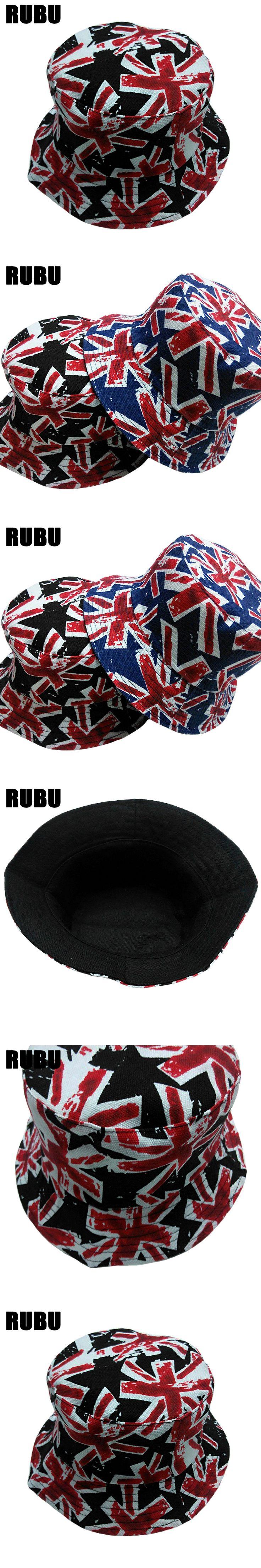 2017 Fashion Print Flag Bucket hat Men Hip Hop Sun Hats Cotton Fisherman Bucket Hat Women Brand Men Camo Bucket Hat