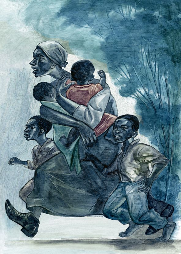 Illustrations by Joe Morse from The Folio Society edition of Toni Morrison's Beloved.