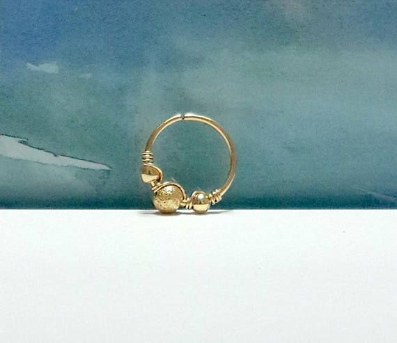 14K Gold Filled beads tragus hoop tiny opal tragus ring