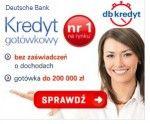 DB kredyt gotówkowy możesz uzyskać nawet do kwoty 200 000 zł na okres 96 miesięcy. Kredyt gotówkowy Deutsche Bank jest atrakcyjnie nisko oprocentowany od 4,99%. Jego atutem jest szybka decyzja wydawana w 10 minut, oraz brak wymogu dokumentowania dochodu. Dodatkowo możesz dobrowolnie wykupić