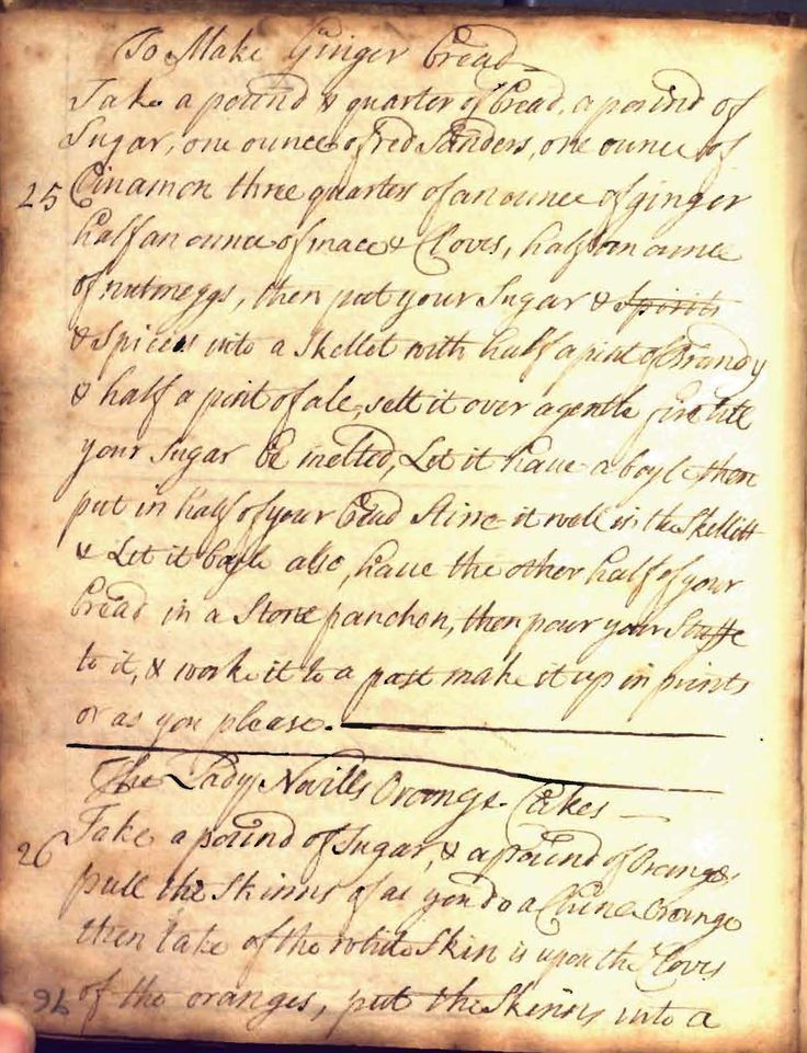 """English Recipes for """"Wines, Sweetmeats, & Cookery,"""" 1700 - 1740"""