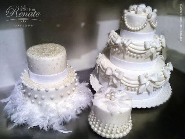WEDDING CAKE: PERLE E FIOCCHI PER LE TORTE NUZIALI DI RENATO By www.SomethingTiffanyBlue.com #wedding #weddingcake