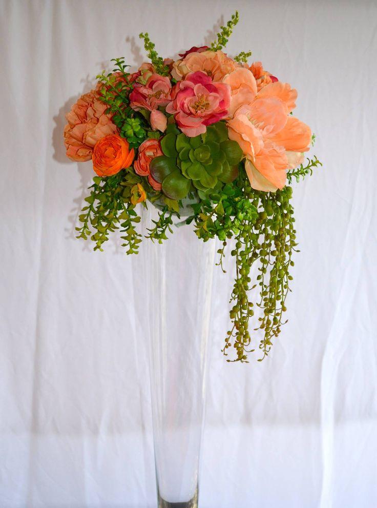 Trumpet vase floral arrangement by lady madonna s yankton