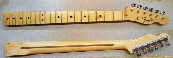 """Up for sale, a 1972 Fender Telecaster neck complete with a set of """"F"""" tuners. This vintage maple neck is straight with a responsive truss rod and flus... #tuners #maple #board #neck #guitar #fender #telecaster #electric #vintage"""