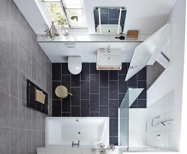 """Kleines Badezimmer mit den Badezimmer-Möbeln """"Puro Duo"""" und """"Xetis"""" von Kaldewei"""