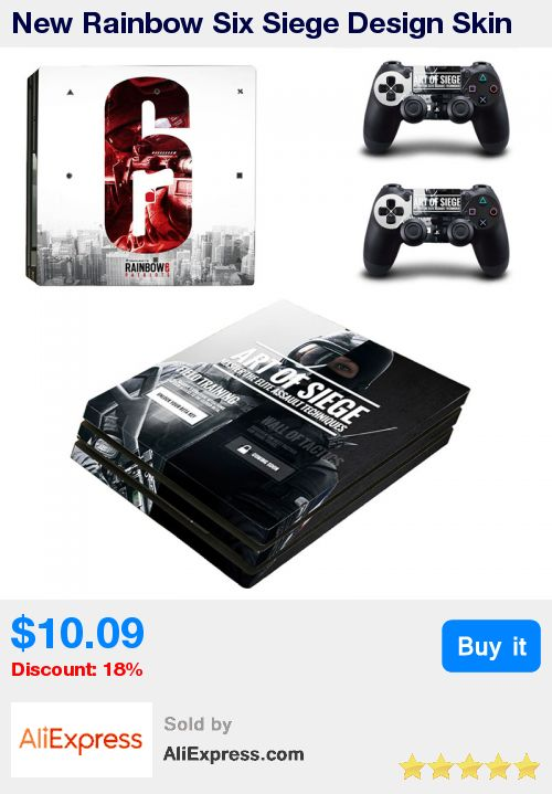 New Rainbow Six Siege Design Skin For PS4 Pro Console Skin For Playstation 4 Pro Console and Controller Vinyl For Ps4 Pro Skin * Pub Date: 08:58 Apr 18 2017