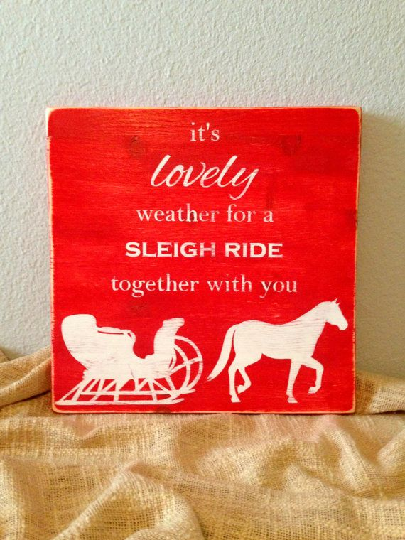 Rustic Sleigh Ride Christmas Wooden Sign  by RusticDeSIGNS1, $30.00