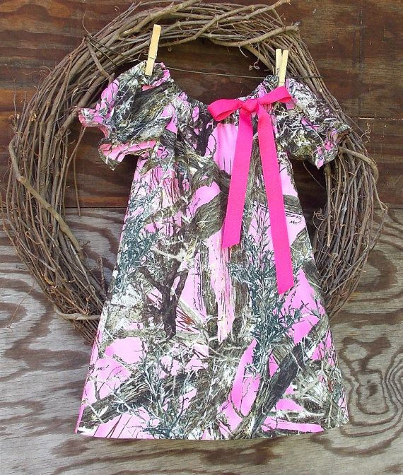 Girls Pink Camo Dress Camo Peasant Dress by SouthernSister2