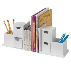 Storage Book Ends - Weu0027re thinking heavy cookbooks in the kitchen or  over-sized picture books in the playroom Either