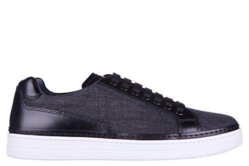 Prada Herrenschuhe Herren Leder Schuhe Sneakers denim spazzola Schwarz - http://on-line-kaufen.de/prada/prada-herrenschuhe-herren-leder-schuhe-sneakers-4