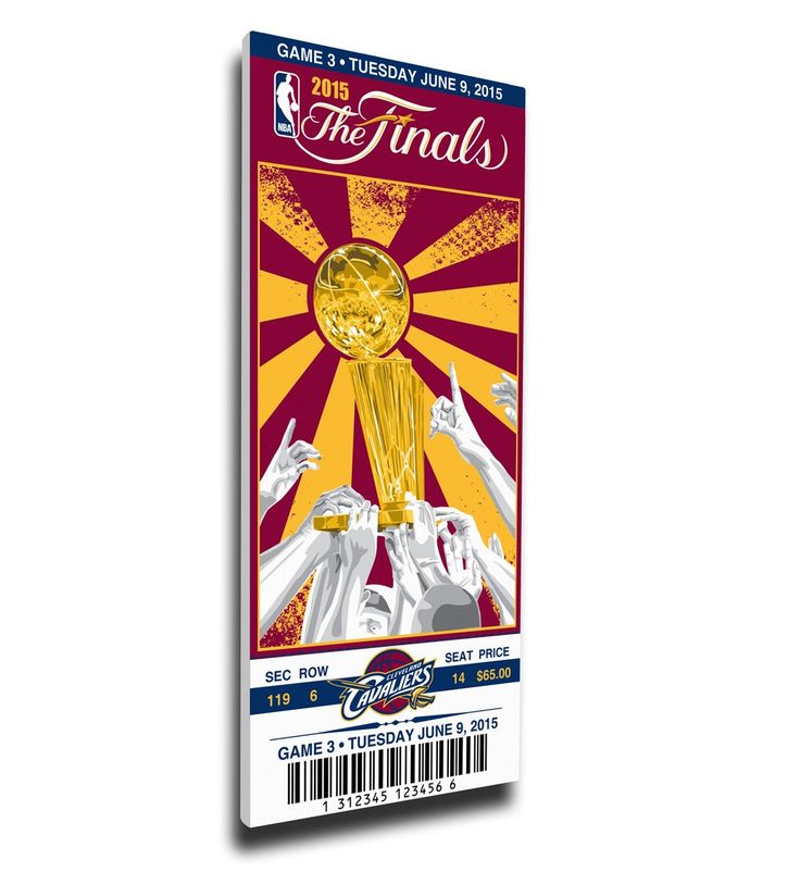 Cleveland Cavaliers Wall Art - 2015 NBA Finals Game 3 Canvas Mega Ticket