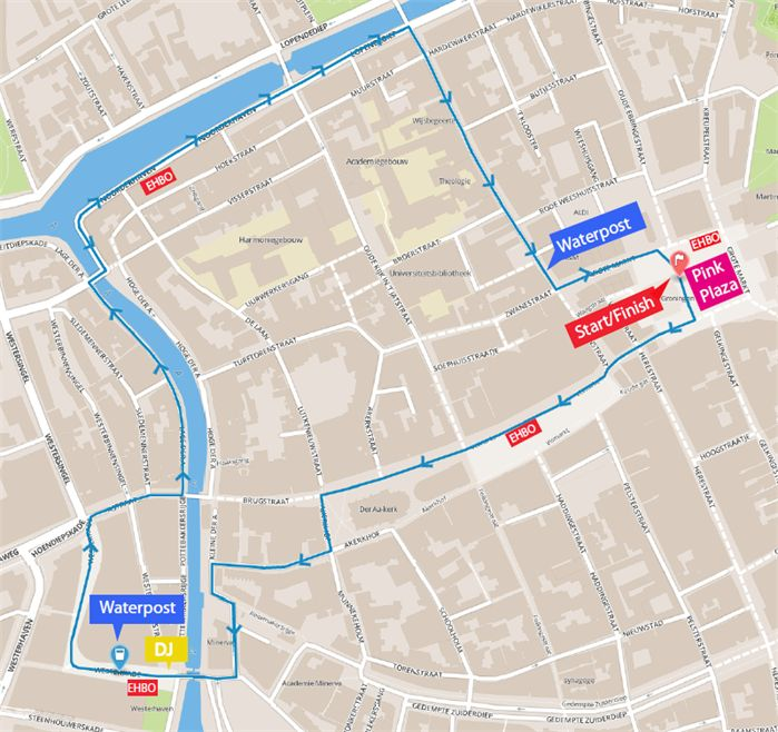 Route Ladiesrun 2015