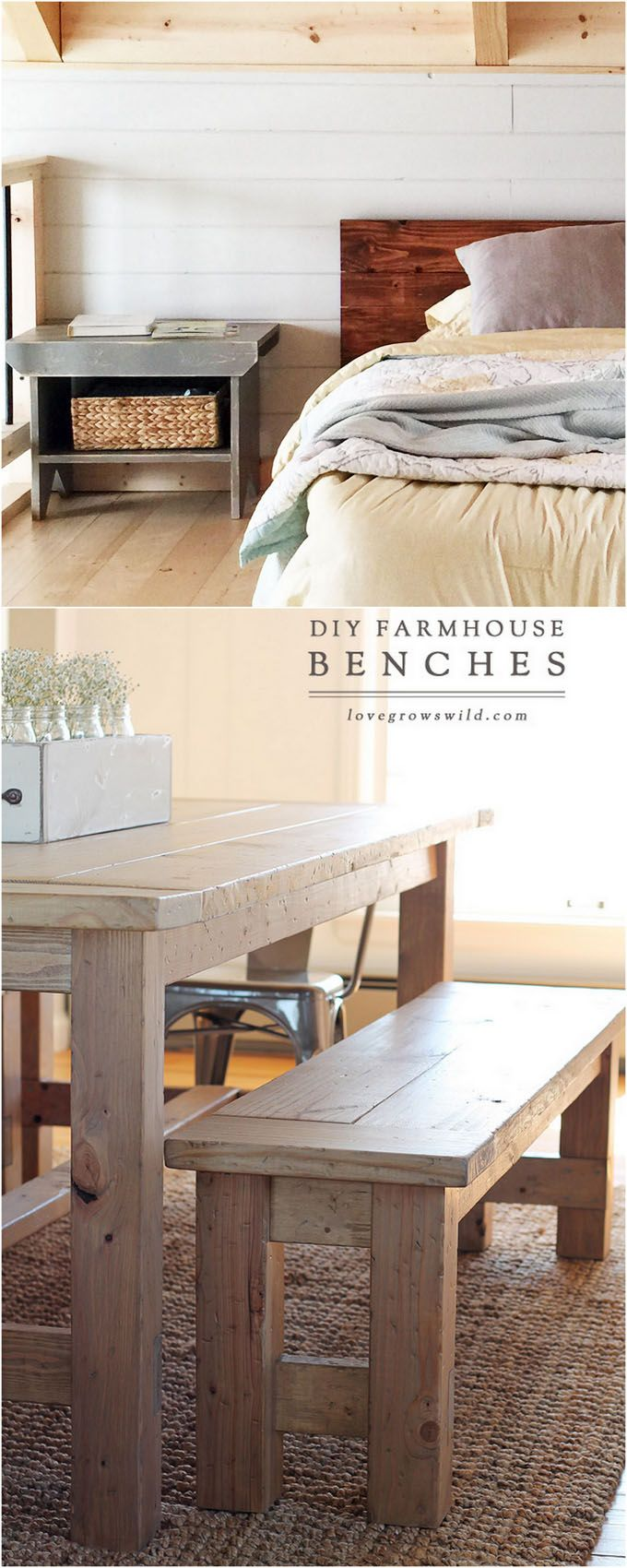 21 Gorgeous Easy DIY Benches ( Beginner Friendly Tutorials for Indoors & Outdoors!)