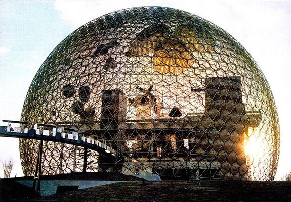 pavillon américain à l'exposition universelle de Montréal en 1967- Buckminster Fuller