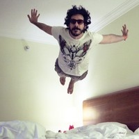 Pablo Marques - Our Master of Levitation.    We are currently taking flying lessons with Pablo to become Advertising Aviators!