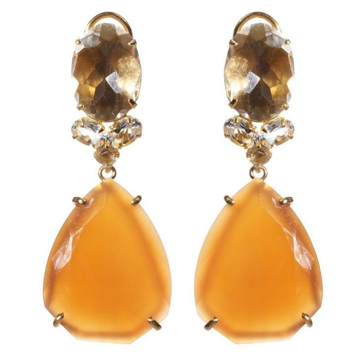Bounkit Convertible Carnelian and Citrine Earrings - Greenwich Jewelers - http://www.greenwichjewelers.com