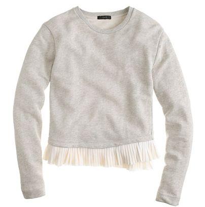 ruffle-hem sweatshirt / j.crew