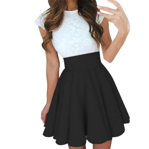 High Waist Pleat Blue Black Pink Gray Min Elegant Skirt Flared Skirts Moflily Womens Skirt Skirt Fashion Denim Skirt Women