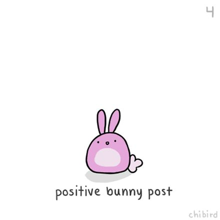 positive bunny post