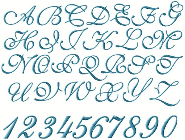 Monogram fonts embroidery and calligraphy