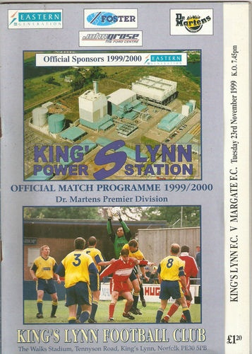 Home to Margate F.C   23/11/1999  Overhead Picture of the then main sponsor Eastern Generation and the new the Power Station .. lush !!