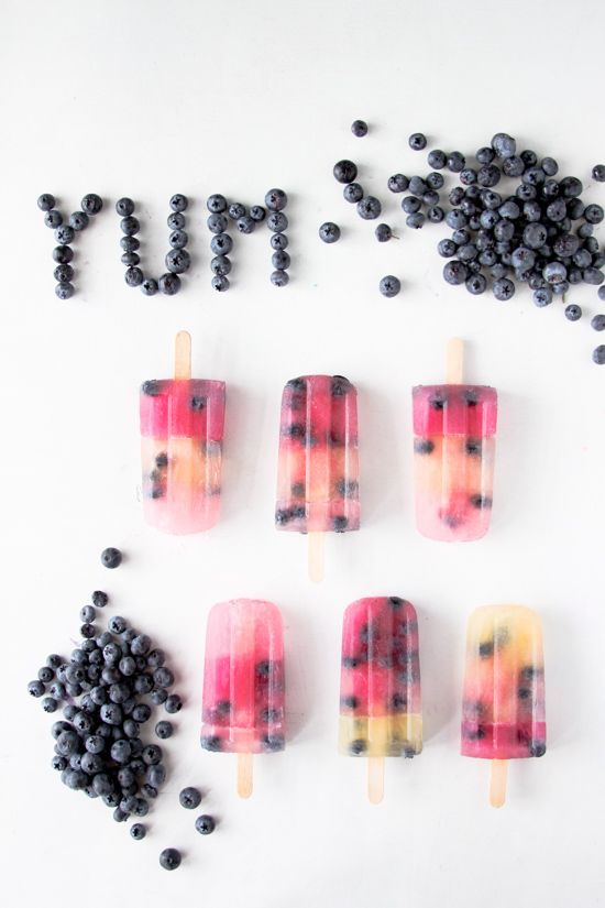 Blueberry Popsicles...for those who live in Cali!