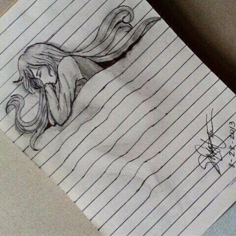 notebook illusion drawing | Art Lessons | Pinterest ...