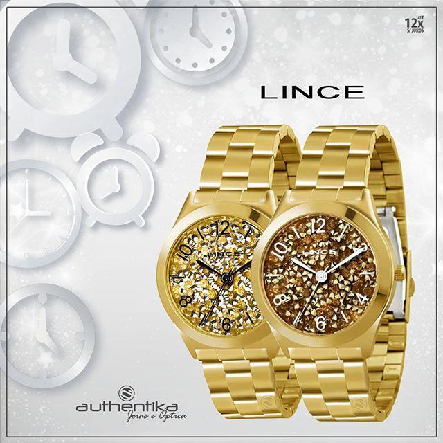 A mulher já tem seu brilho natural, mas nunca é demais! Relógios Lince, com visor completo de brilho, por apenas 12x sem juros de R$ 17,24. Confira: Modelo 1: https://authentika.com.br/produtos/detalhes/relgio-lince-dourado-feminino-1/ Modelo 2: https://authentika.com.br/produtos/detalhes/relgio-lince-dourado-feminino-2/ #authentika_loja #relógiolince #diadasmulheres