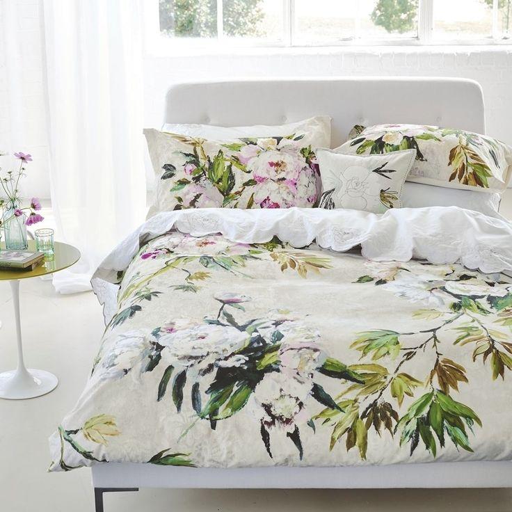 Floreale Grande Natural Bed Linen | Designers Guild