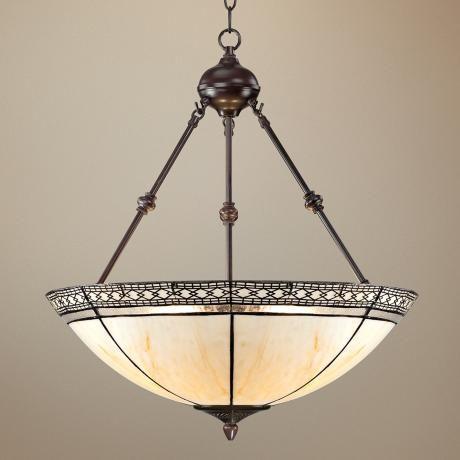 inverted bowl pendant lighting. tiffany style 3light mission 24 inverted bowl pendant lighting