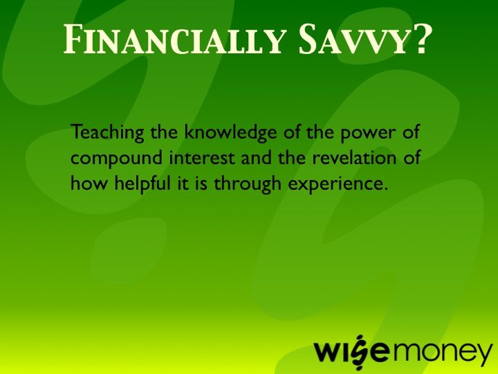 What does it mean to be Financially Savvy? Description number 3.