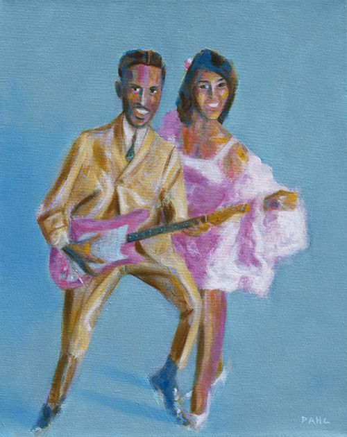 "Ike and Tina Turner, 1962. 16x20"" oil on canvas 2014. $1,200 (unframed)."