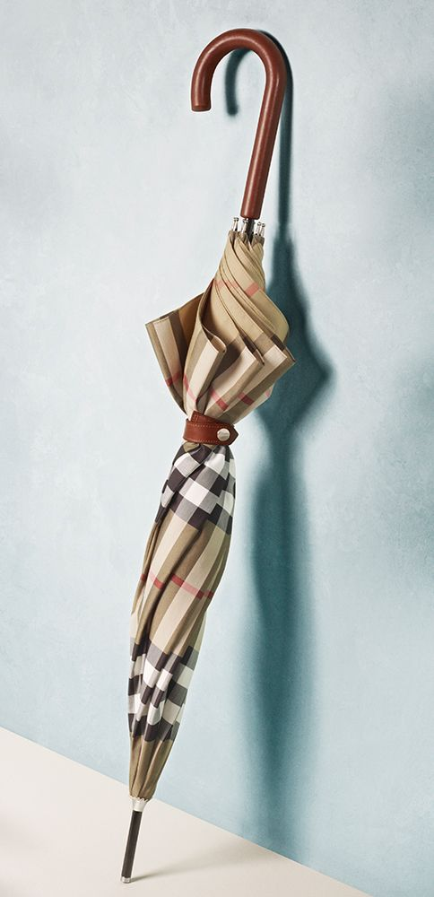 Shield from spring showers with a Burberry House Check umbrella