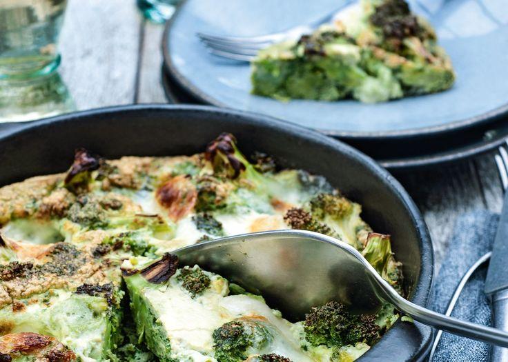 Recept: hartige broccolitaart met mozzarella van Pascale Naessens