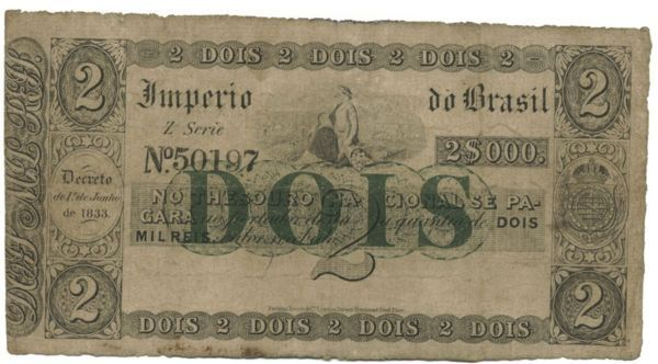 2000 Reis - Cédulas do Brasil Império