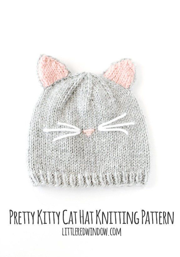 Cat Hat KNITTING PATTERN / Baby Cat Hat Pattern / Cat Hat for Baby ...