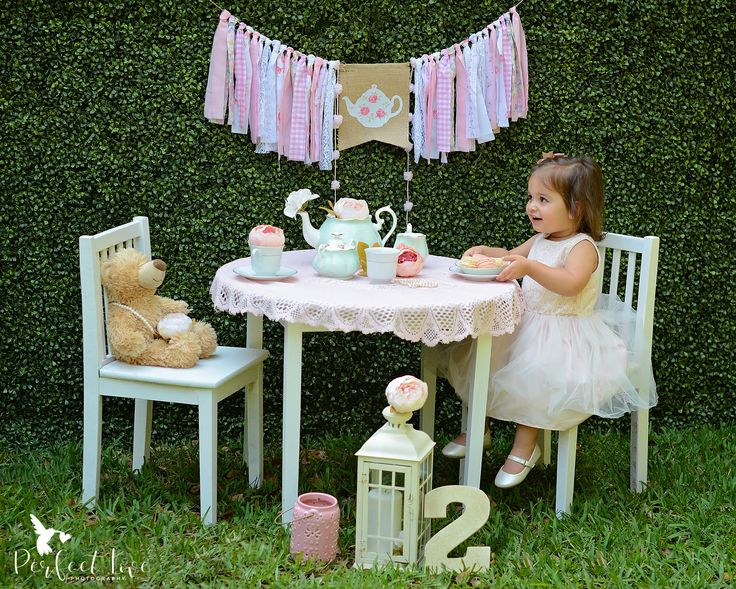 Miami children photography. Children photography ideas. Second birthday session. Perfect Love Photography. Miami, FL photographer. Tea party session. Tea for two. South Florida photographer.
