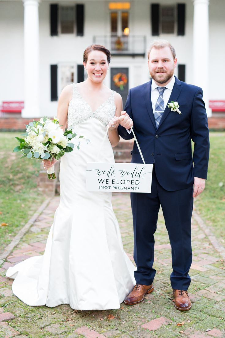 We Do We Did We Eloped Not Pregnant Sign | Marriage Announcement | SS-19