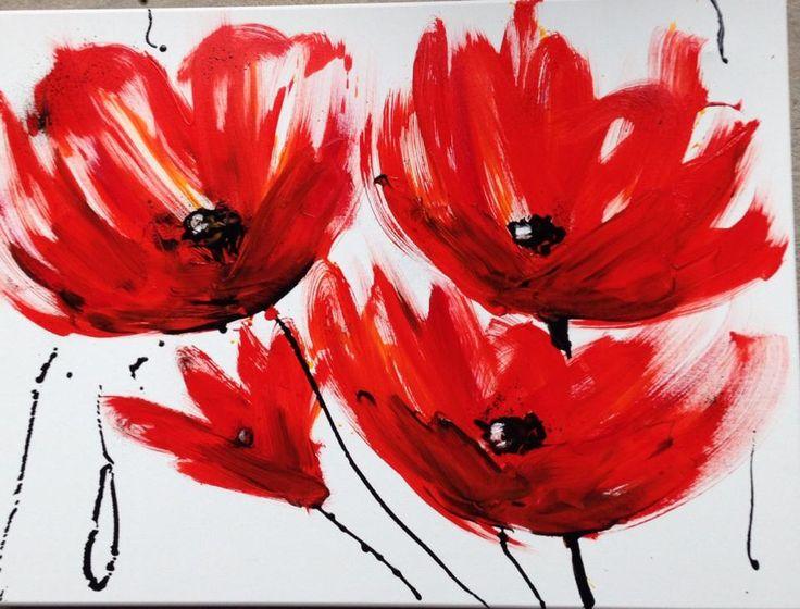 Flowers, oil on canvas