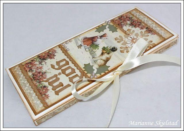 Mariannes papirverden.: Tutorial - sjokoladekort