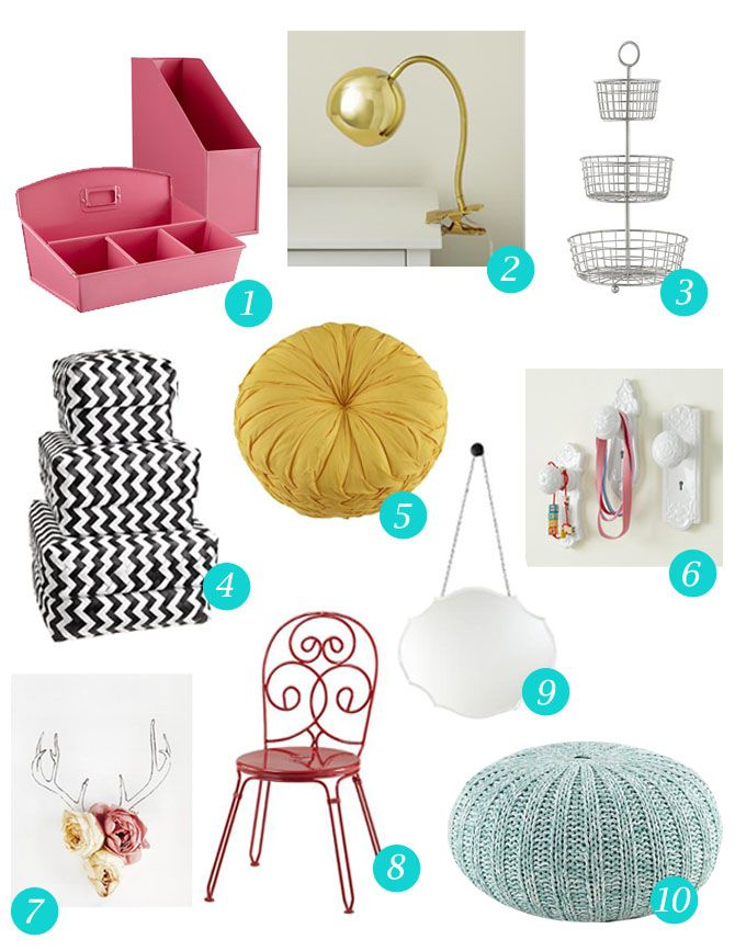 10 top accessories for a girls dorm room: The Land of Nod