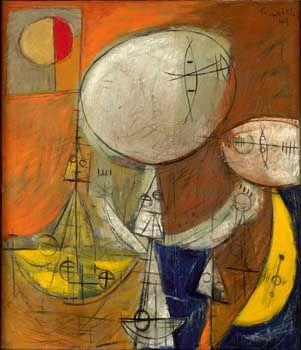 Corneille (b.1923) Port de Pêche, 1949 Oil on Canvas 69.5 x 60.5 cm