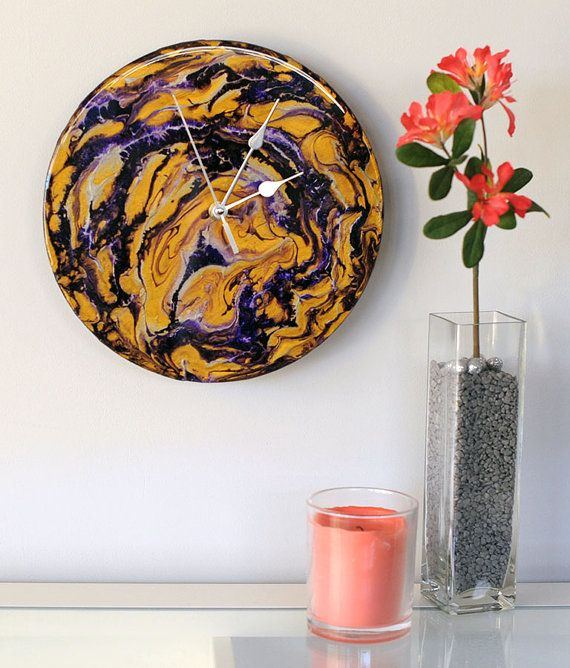 Blueberry Cheese Cake Clock Flow Art Hand by SolCreationsArtwork