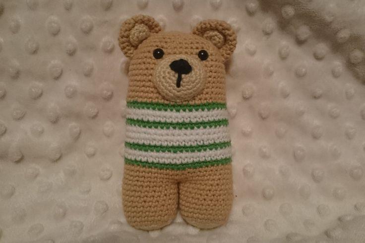 Crochet two-legged bear, amigurumi toy, squeezable teddy bear by CrochetAga on Etsy